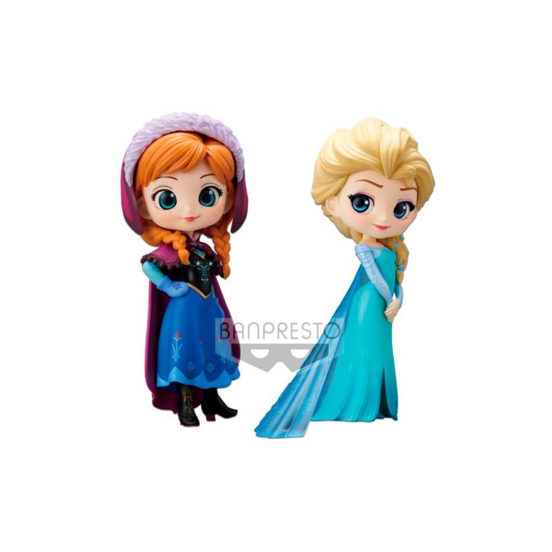 FIGURA Q POSKET DISNEY ANNA & ELSA PACK 14 CM
