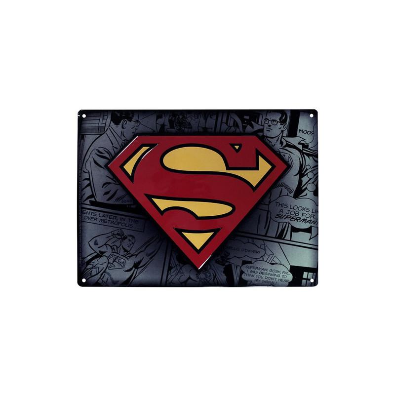 PLACA DE METAL SUPERMAN 28X38