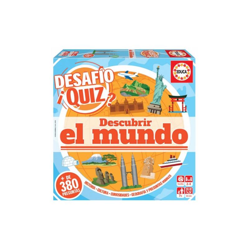 JUEGO DIDACTICO QUIZ PREGUNTAS DESCUBRIR EL MUNDO